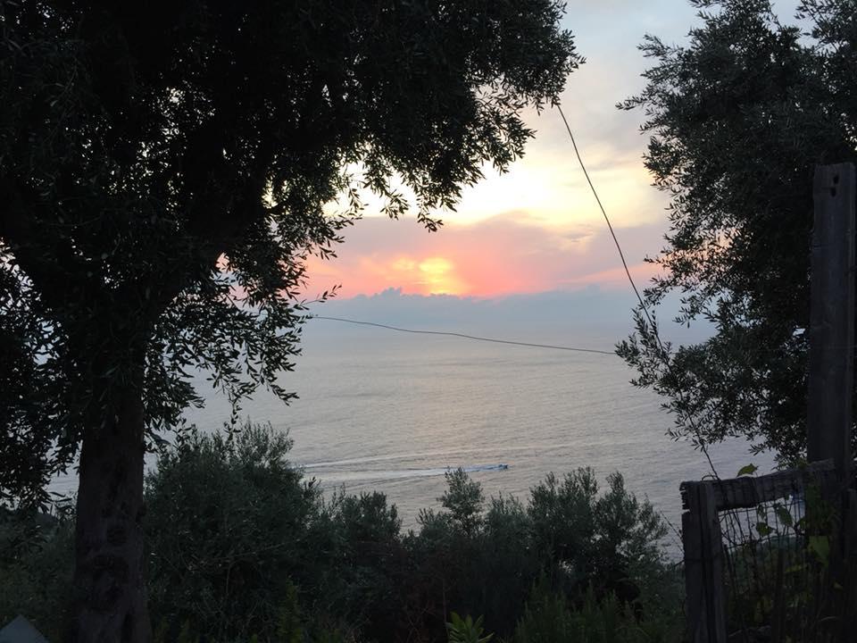 Il Nastro d'oro, il tramonto dal ristorante
