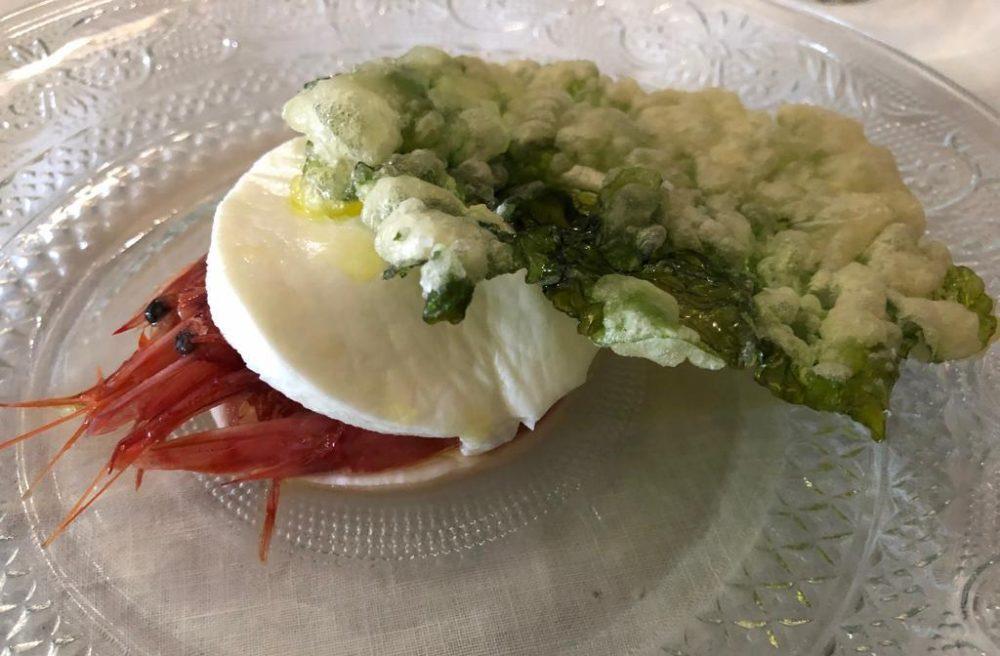 La Cantinella del Mare - mozzarella gambero rosso e alga