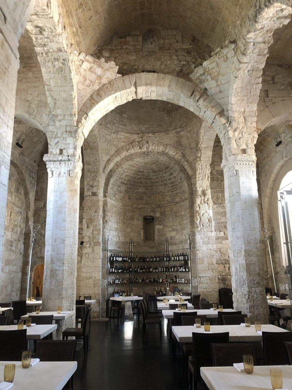 Le Lampare al Fortino, l'interno della sala invernale