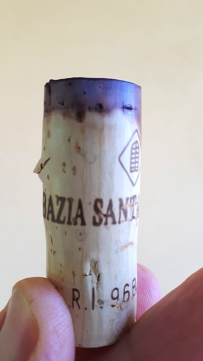 Litra 1997 Abbazia Santa Anastasia, tappo
