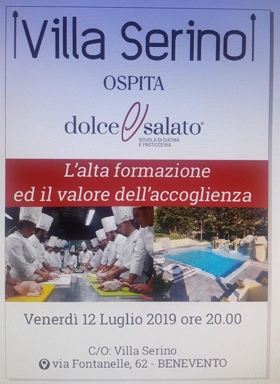 Locandina Evento 12 luglio 2019 Dolce & Salato a Villa Serino