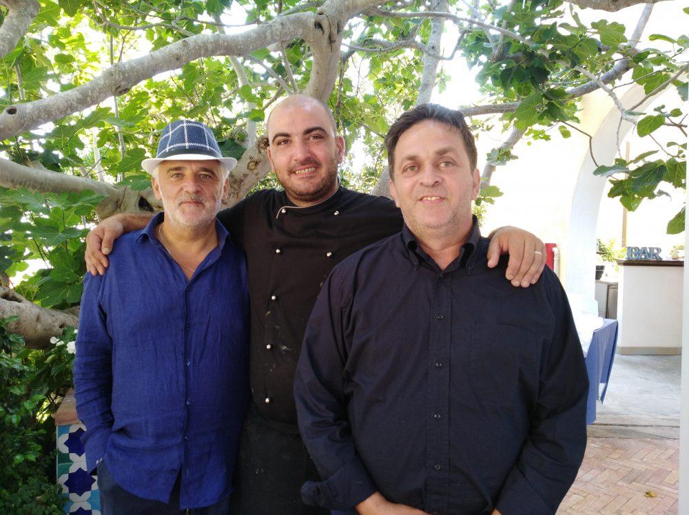 da sx Michele Santoriello, Mario Panariello e Mario Riccardi