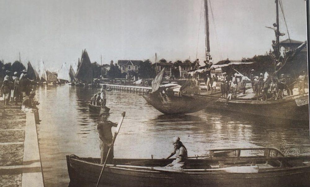 1925, Riccione, Porto Canale, collezione privata Sig. Ezio Ricci