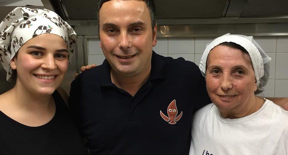 Il nuovo patron Angelo Guzzo, con la mamma Antonietta e la collaboratrice Gerarda