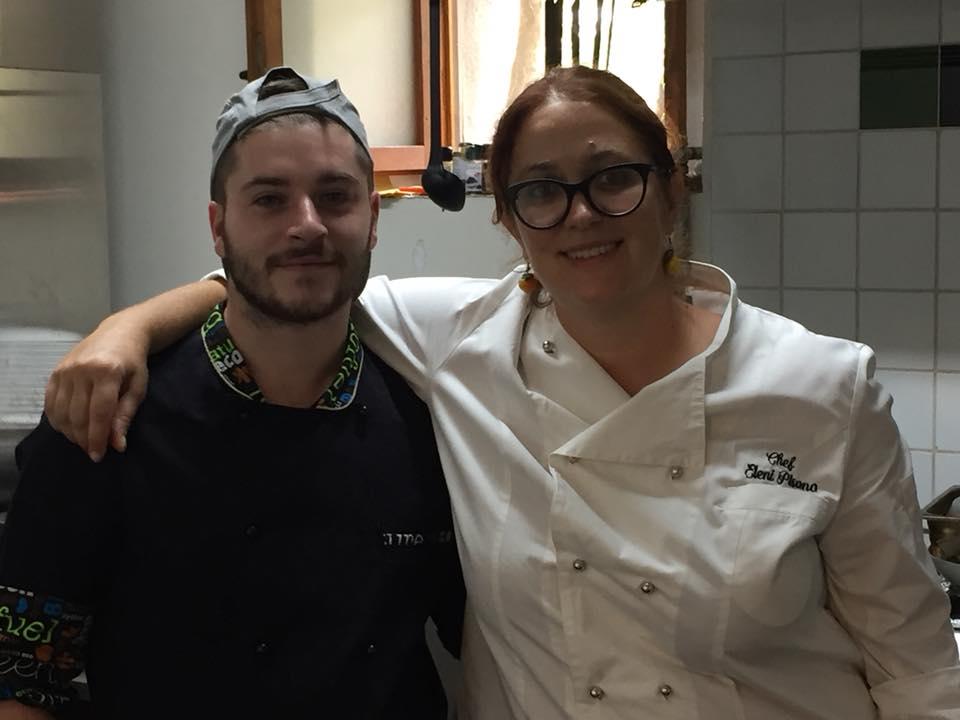 La Cantina a Gioi, Guido Astore con la chef Eleni