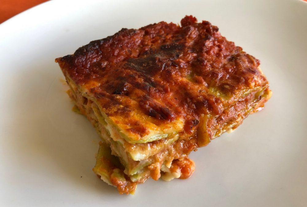 Lasagne, anche qui, come nel coniglio c'e' lo zampino di una cuoca settantenne
