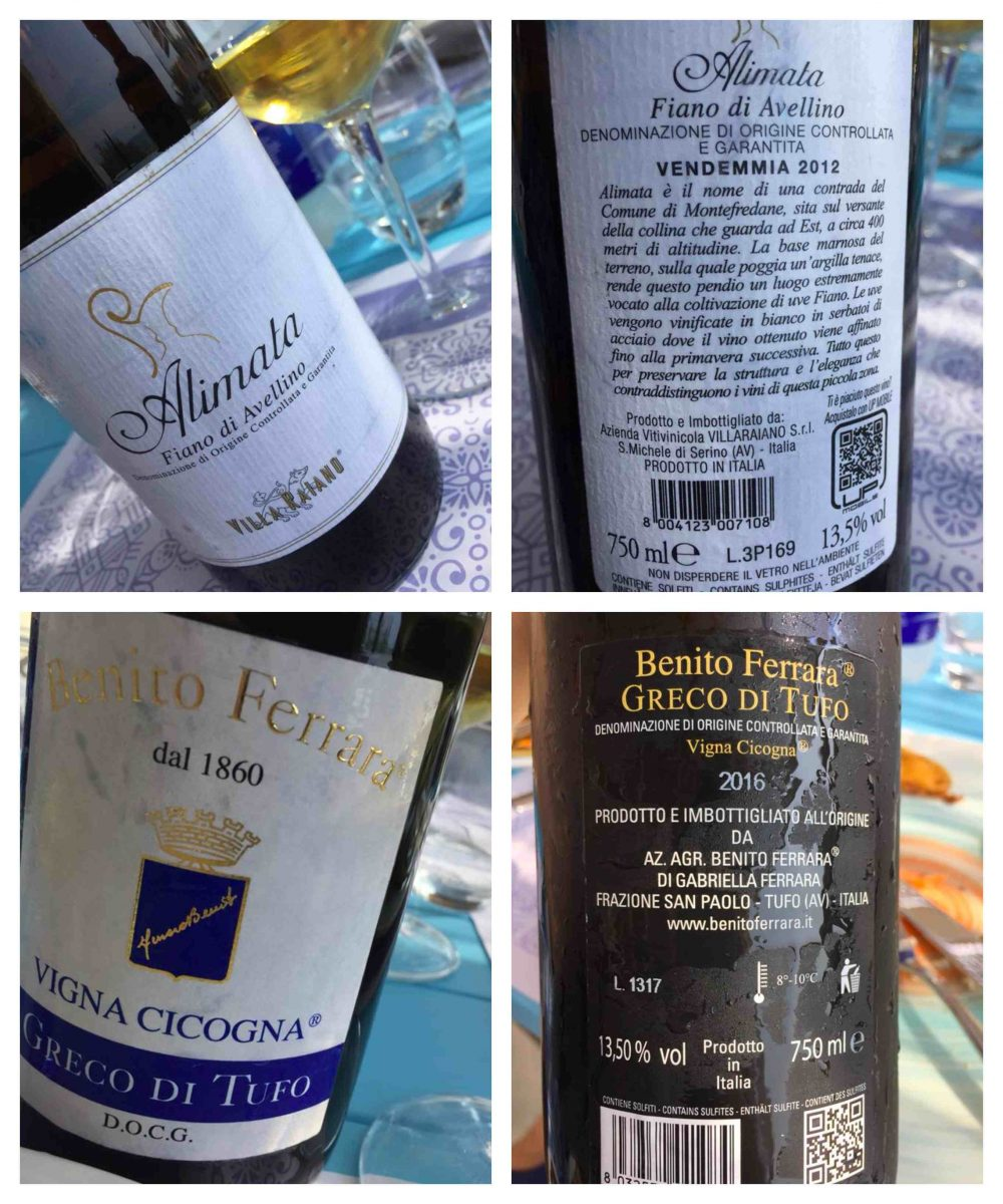 Oleandri Beach Club, i vini