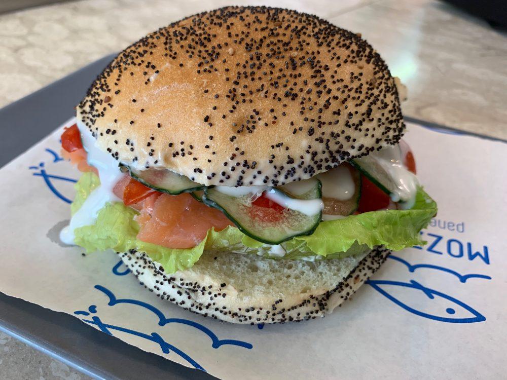 Mozzillo pane & Mare - panino al salmone