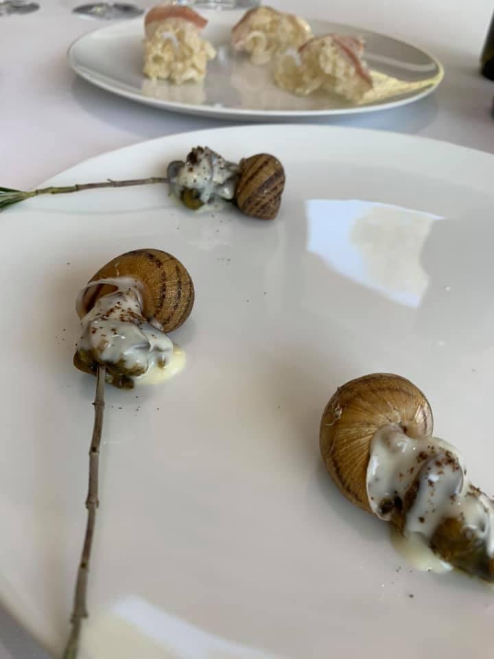 Ristorante Marotta - Canape, Lumache cacio e pepe, Cotenna e Guanciale