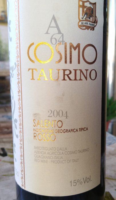 A 64 Cosimo Taurino Salento Rosso Igt 2004