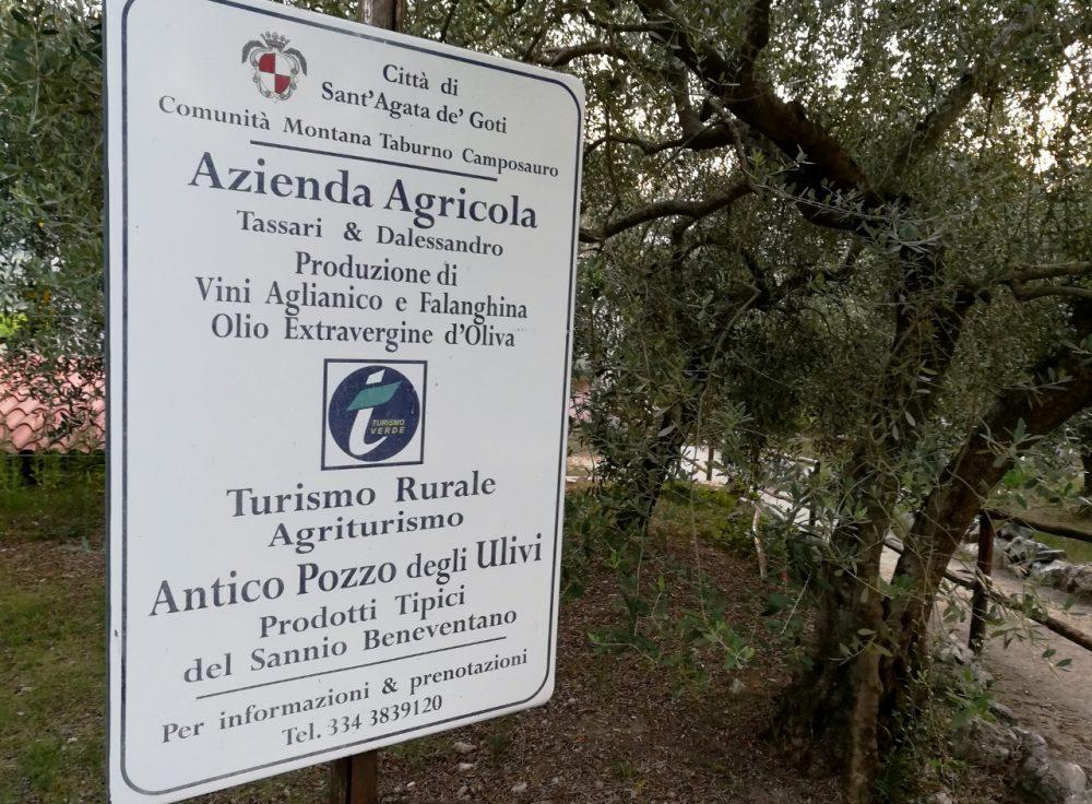 Antico Pozzo degli Ulivi - Il cartello di benvenuto