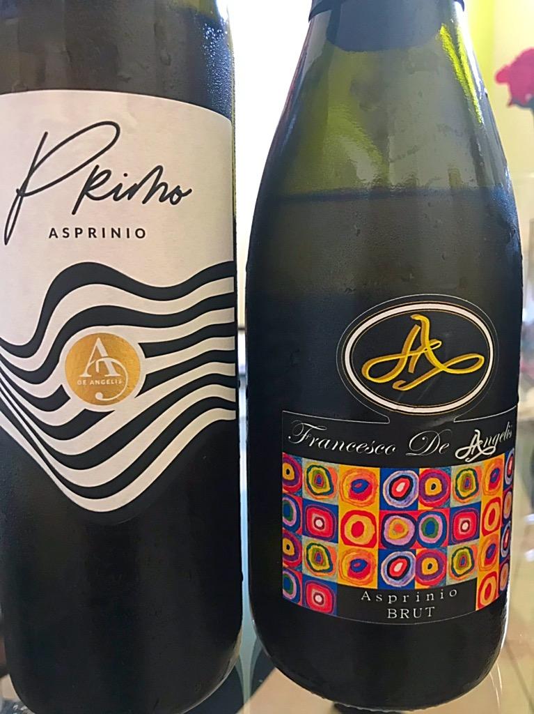 Asprinio De Angelis- le due etichette prodotte