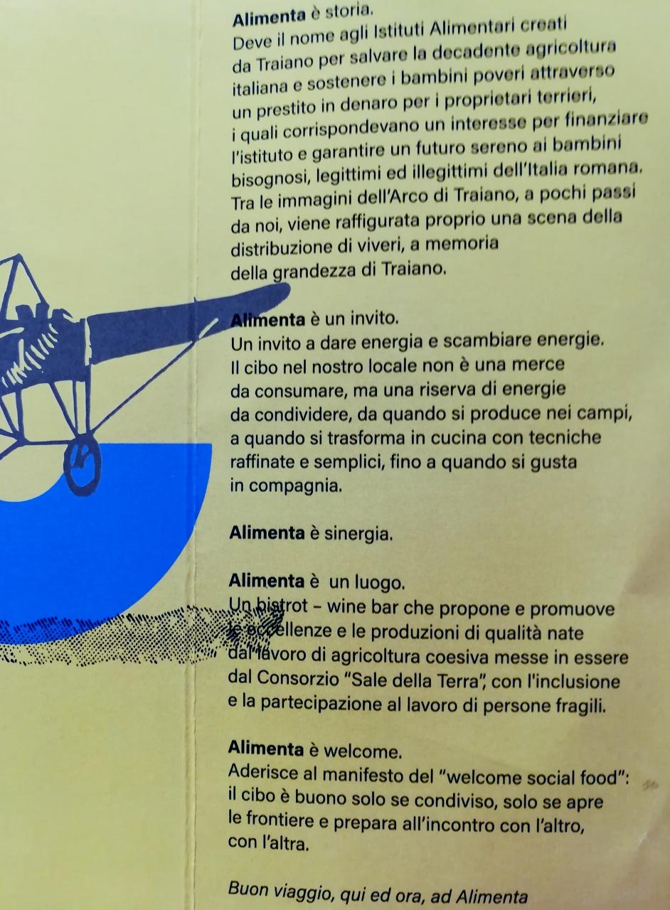 Manifesto del locale
