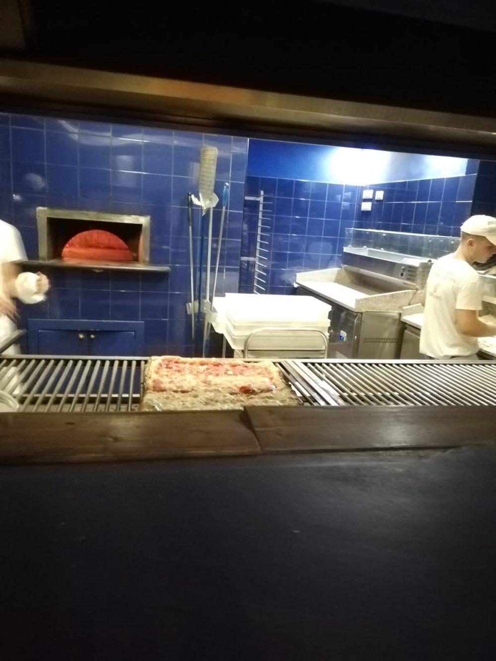 Pizza alla Brace - L'asciugatura