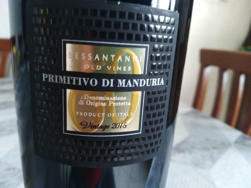 Sessantanni Primitivo di Manduria Dop 2015 Cantine San Marzano