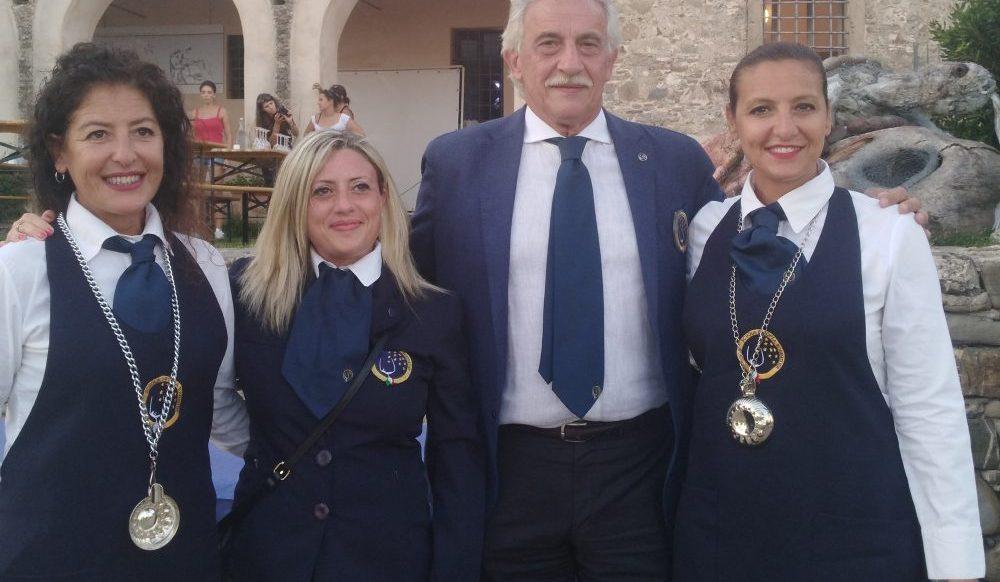 Team di sommelier della Scuola Europea Sommelier da sx Antonella De Maro, Maria Manuela Russo, Francesco Continisio e Antonella De Maro