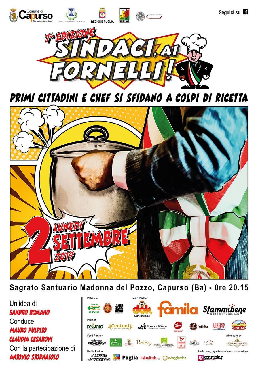 Locandina Sindaci ai Fornelli 2019