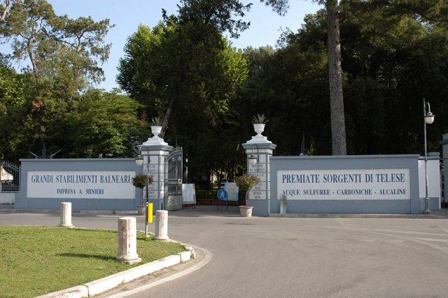 L'ingresso del parco termale