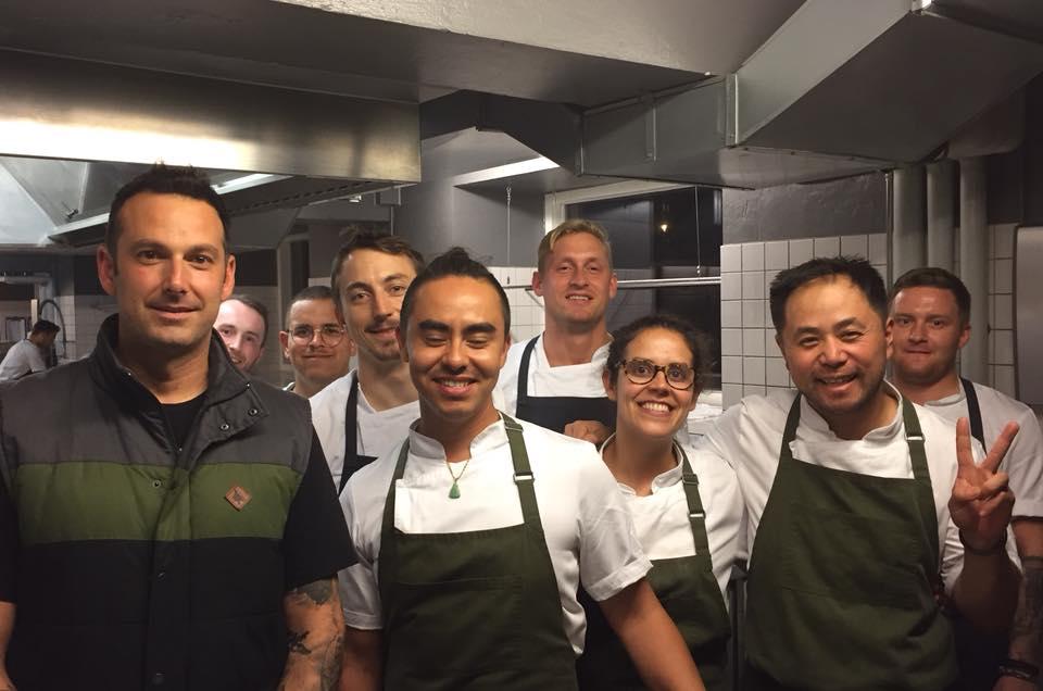Amass, Copenhagen, lo chef Matt Orlando con la sua squadra