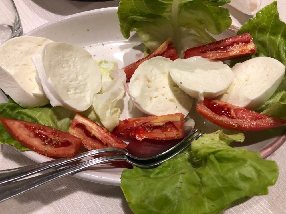 Trattoria O'Romano - la mozzarella e il pomodoro