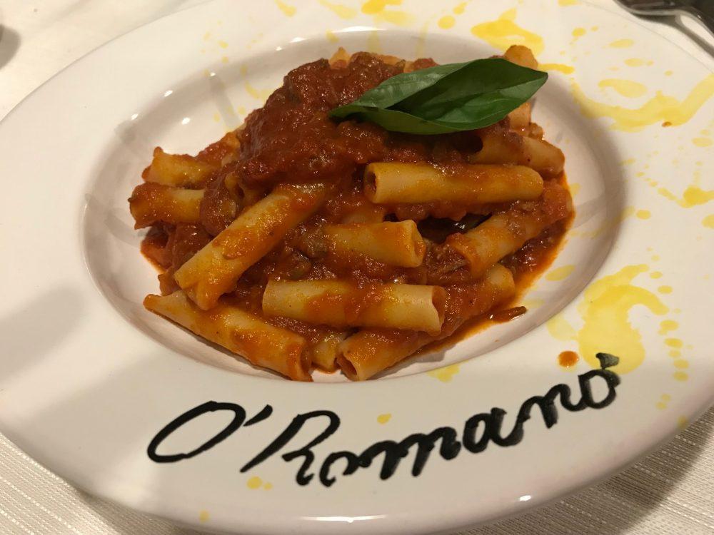 Trattoria O'Romano - la pasta col ragu' di capra
