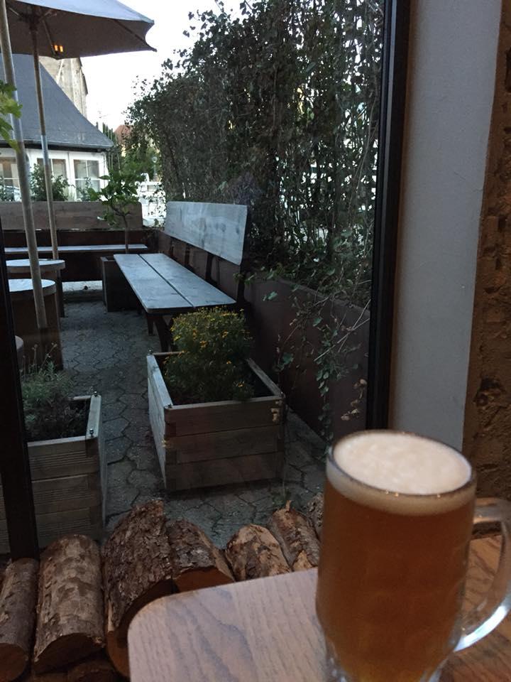 108 restaurant a Copenhagen, scorcio del giardino