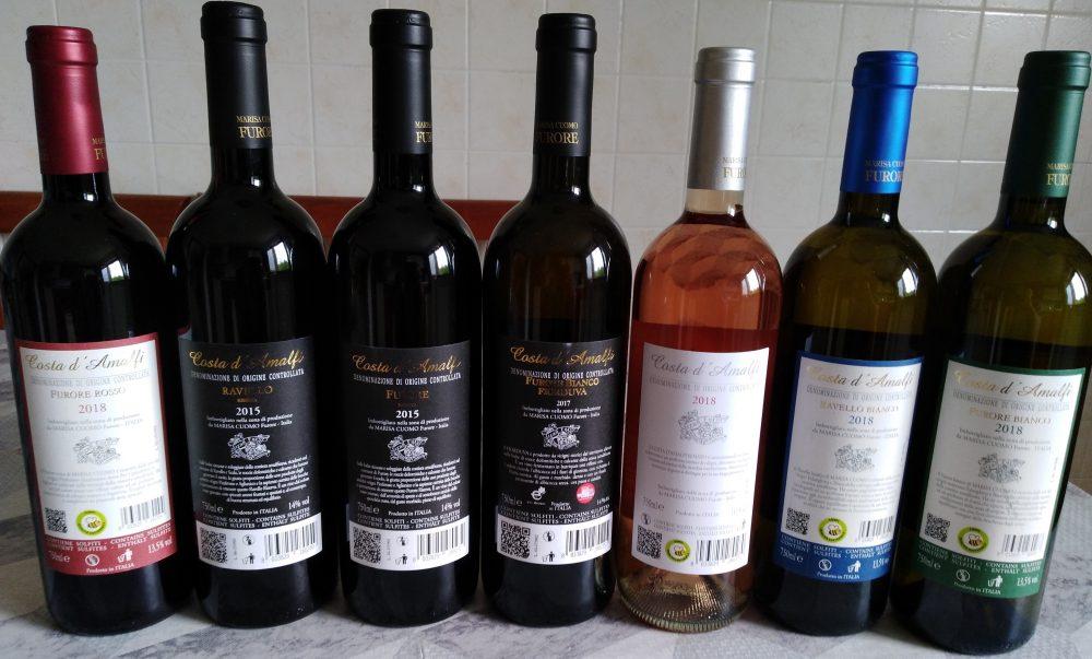 Controetichette vini di Marisa Cuomo