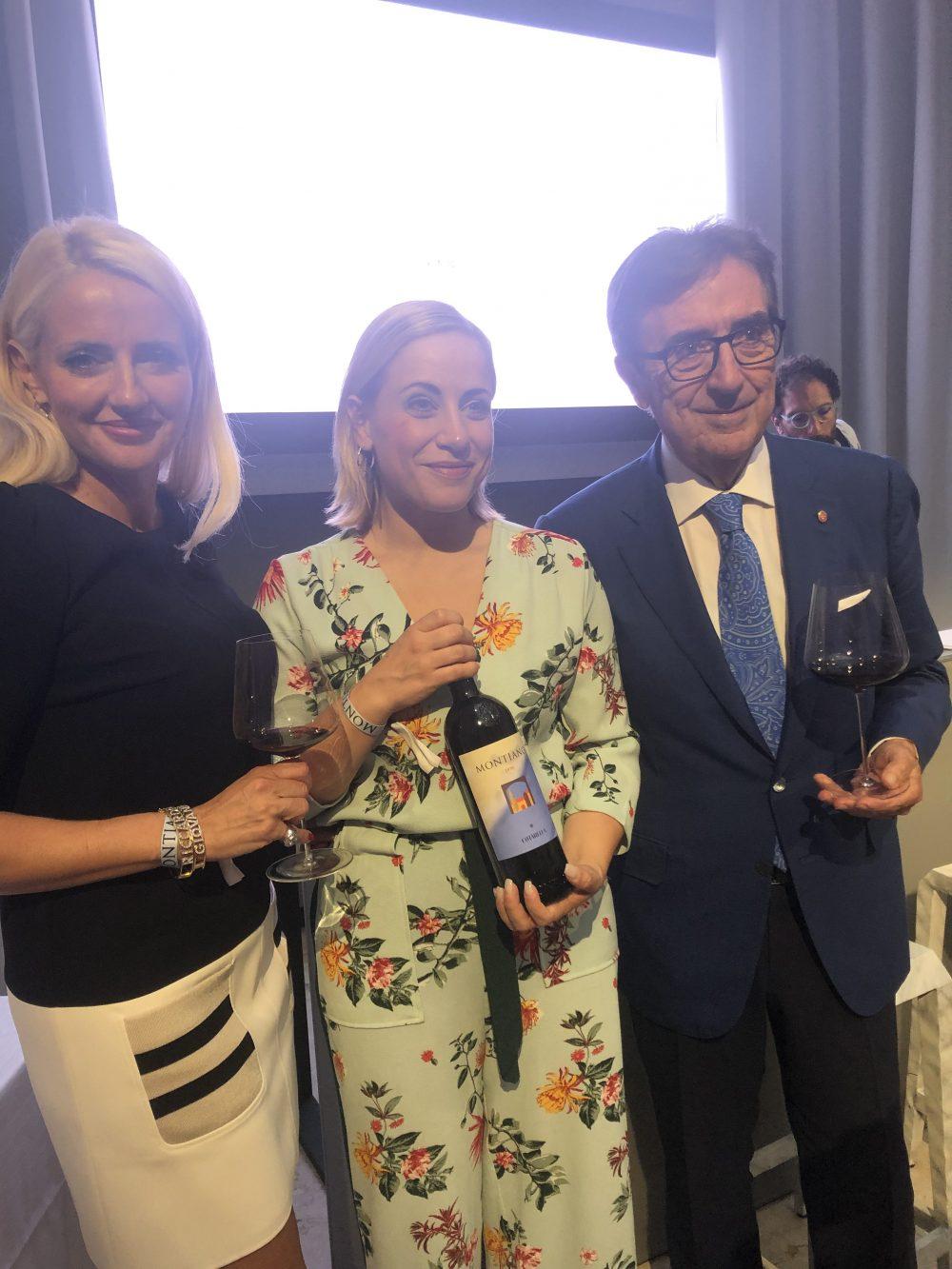 Dominga, Enrica e Riccardo Cotarella a Milano per presentare l'annata 2016 del Montiano
