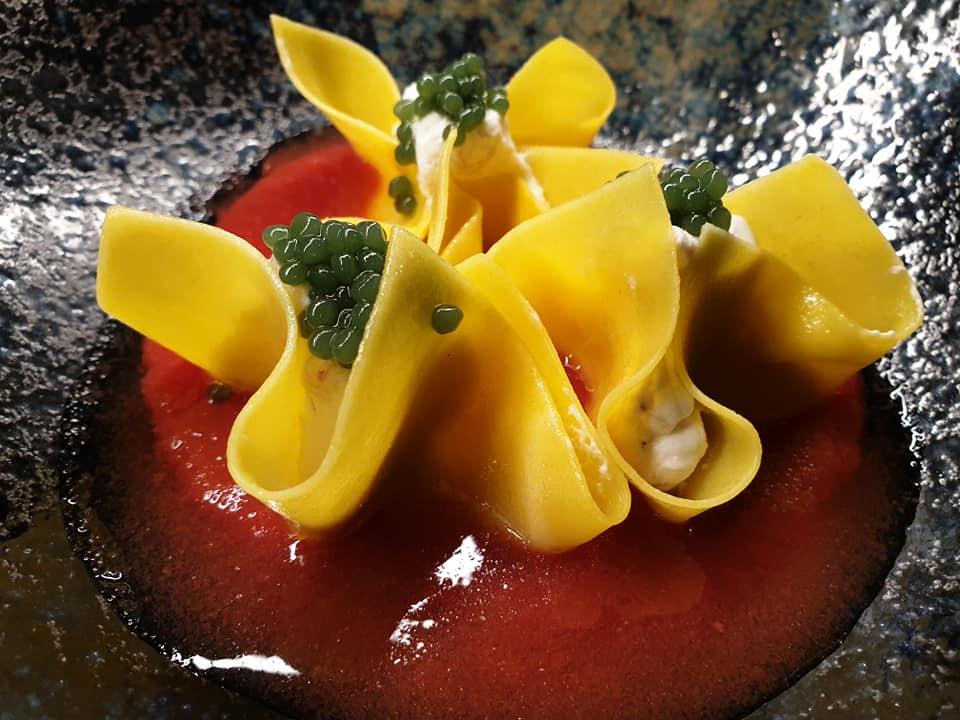 GIARDINI DEL FUENTI - Dumpling aperti con ricotta, pomodoro e basilico