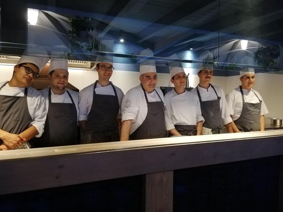 GIARDINI DEL FUENTI - Lo staff di cucina e lo chef Michele De Blasio