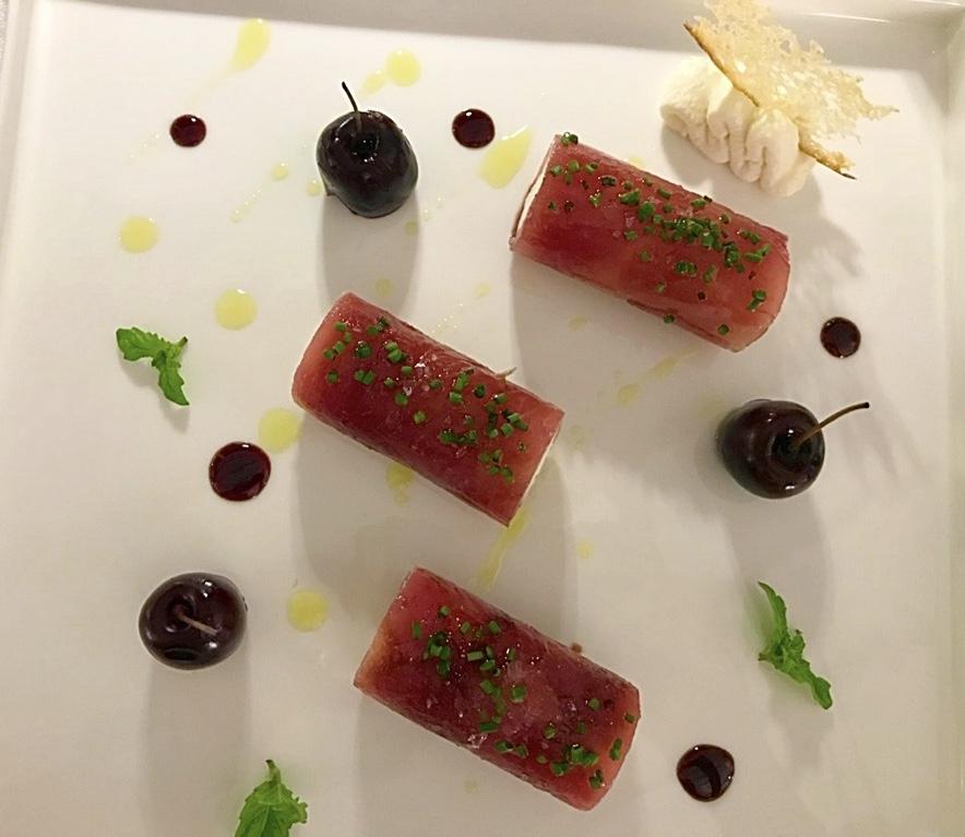 Jose' Restaurant - Tonno, ricotta e ciliegie