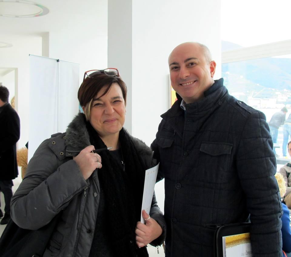 Manuel Chiarolanza con Giusepe Festa direttore del corso universitario di Wine Business
