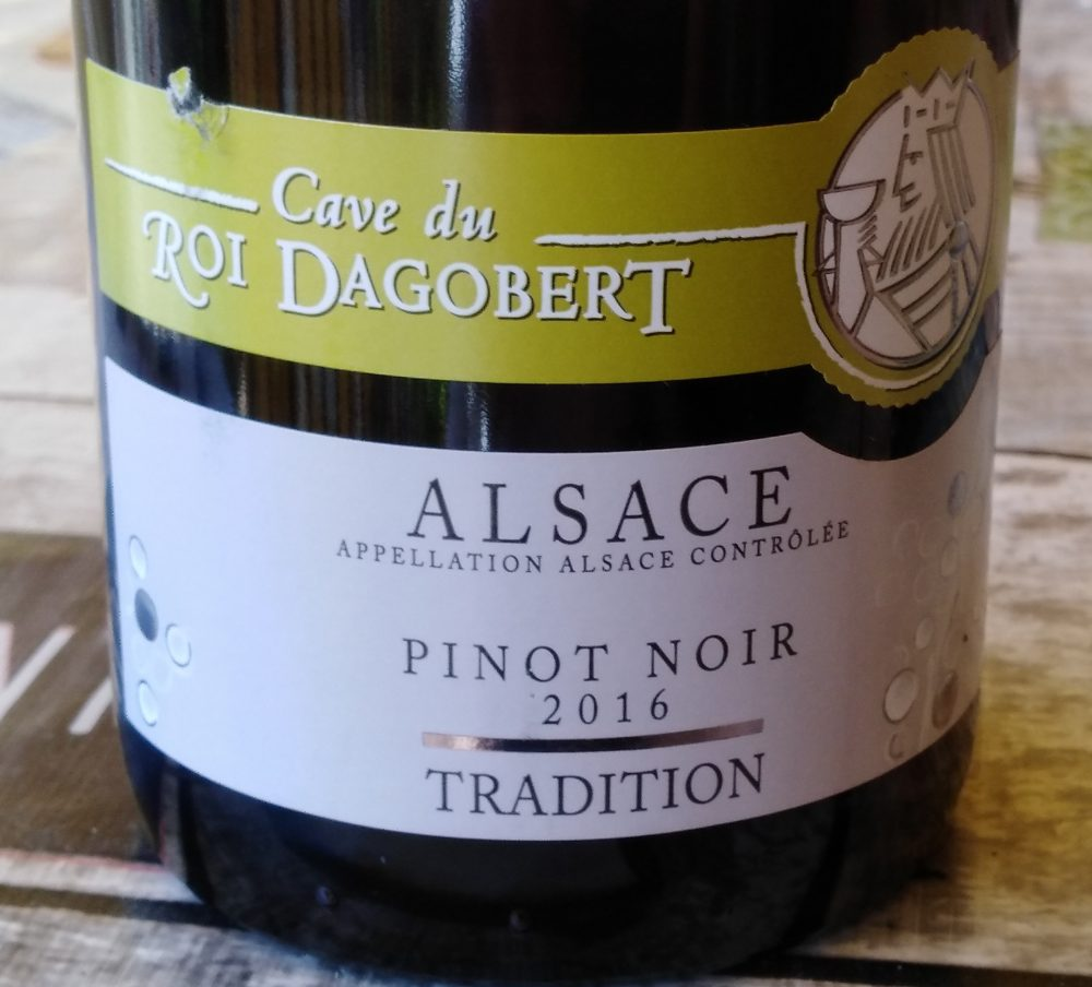Pinot Noir Alsace AAC Tradition 2016 Cave du Roi Dagobert