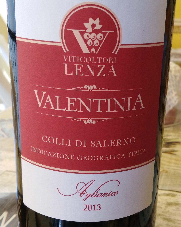 Valentinia Rosso Aglianico Colli di Salerno Igt 2013 Lenza