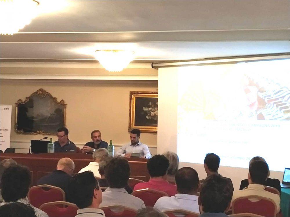 da sx Antonio Raimondo -Dir. Icqrf Napoli, Roberto Di Meo -Presidente Assoenologi Campania, Francesco Manzo -Responsabile Agroqualita'