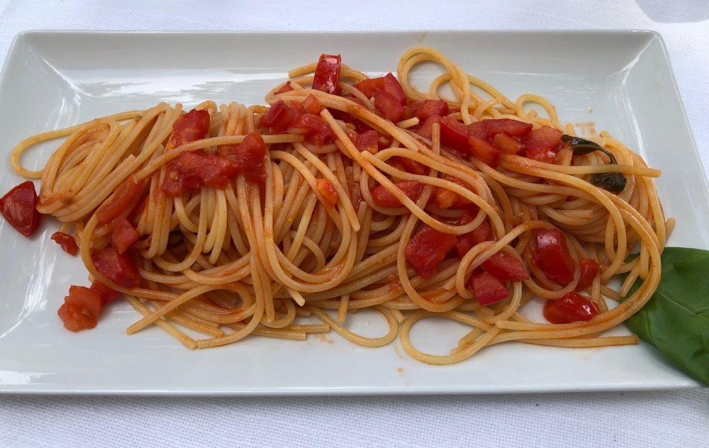 Hotel de la Ville, Riccione, spaghetti al pomodoro fresco