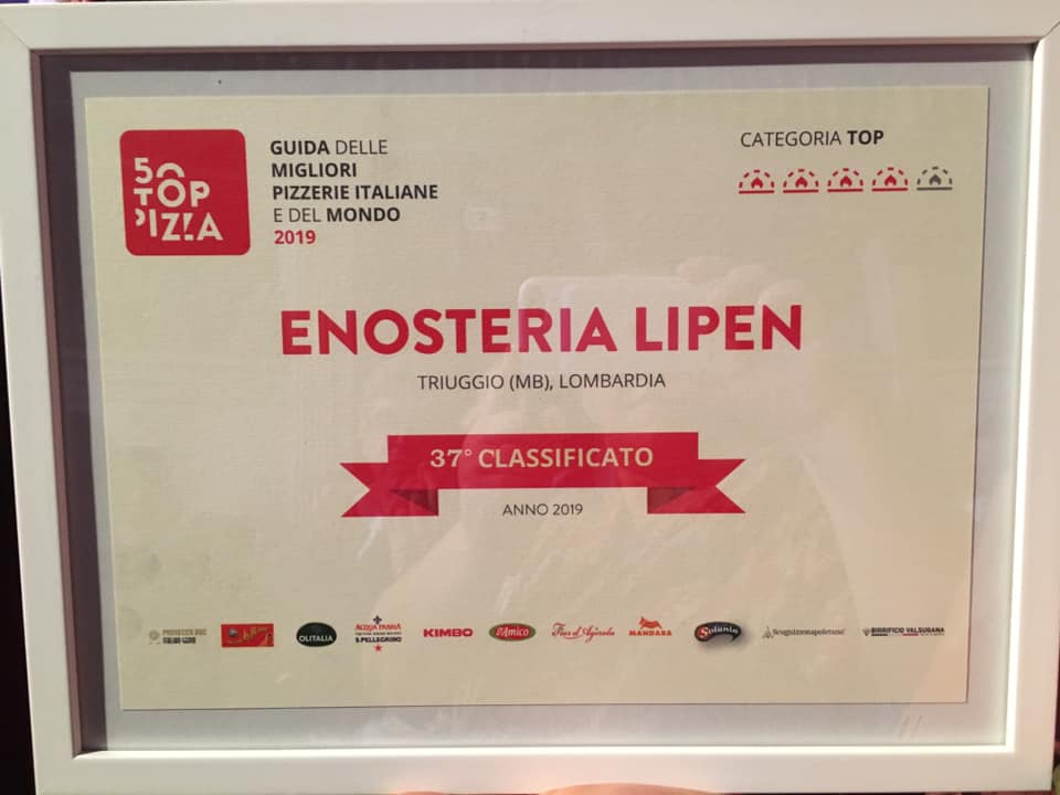 Lipen, 37 classificato a 50TOPPIZZA