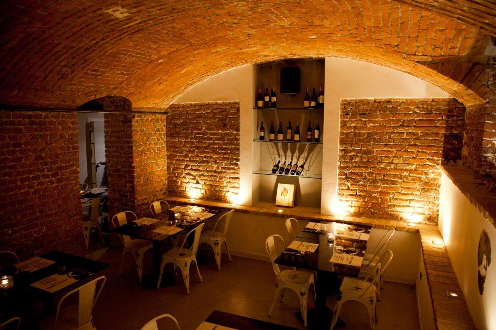 Pizzeria Barabba, la sala al piano inferiore