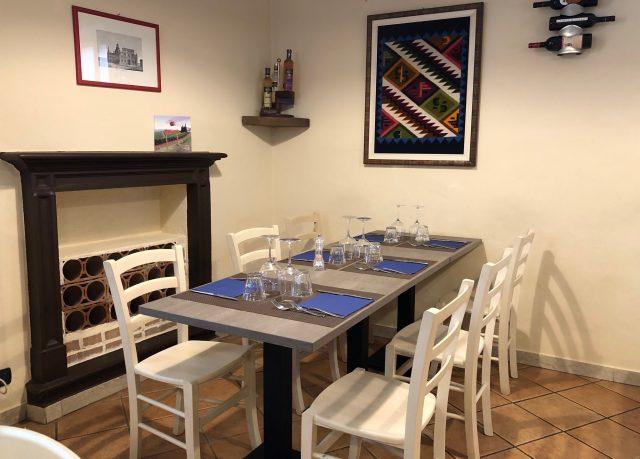 Trattoria Samperone, tavolo e mise en place