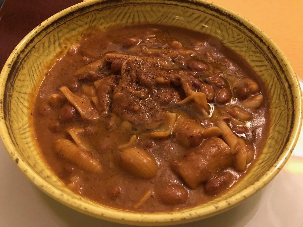 Osteria della Buona condotta, Ornago, pasta mischiata e fagioli di Lamon