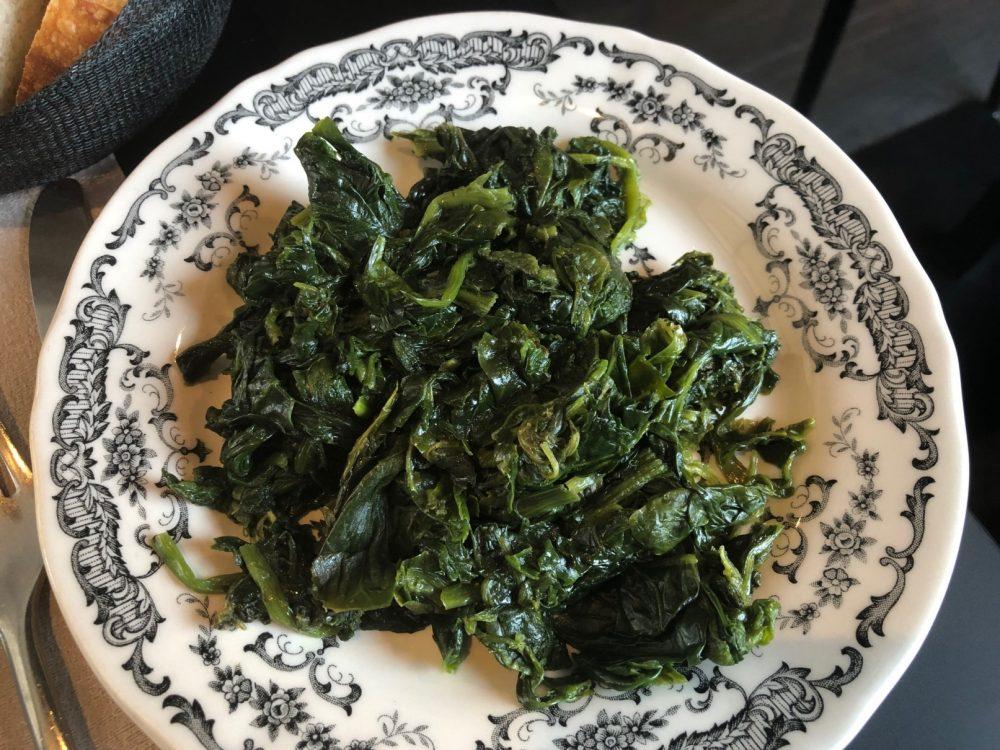 Lipen, spinaci, uno dei tre contorni