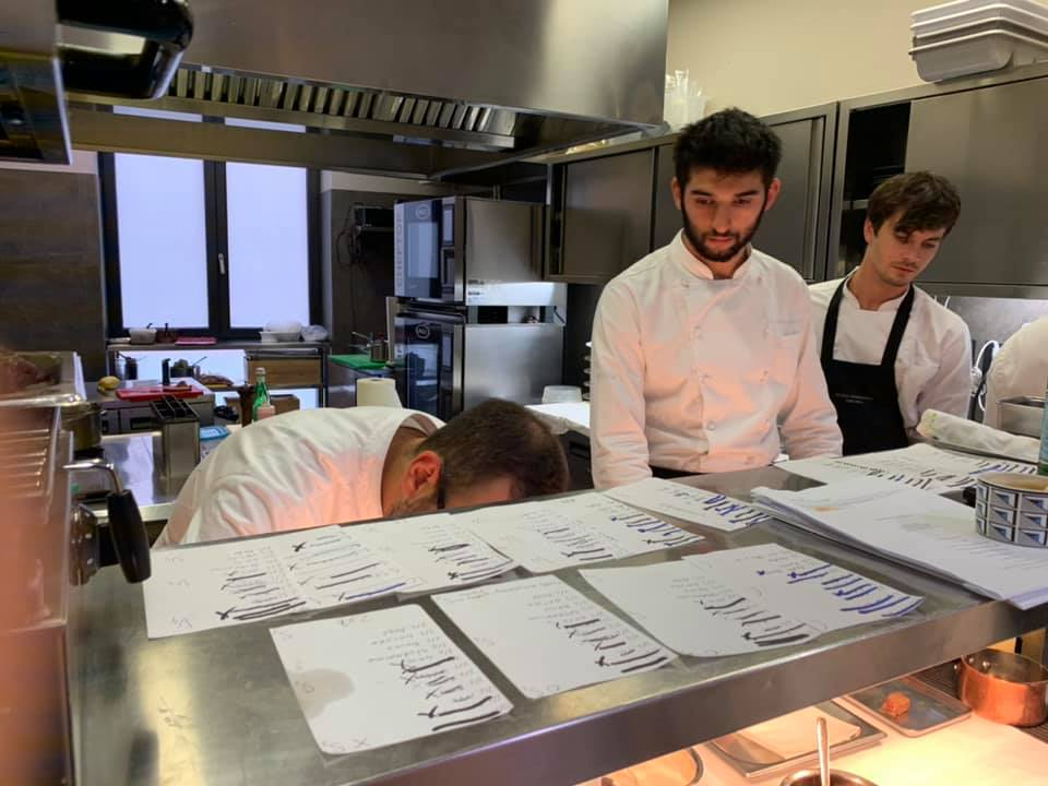 Osteria Francescana, le comande in cucina