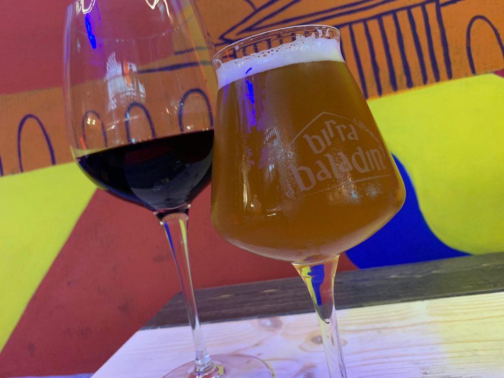 Bun House - birra ipa zone e vino aglianico Jungano del Cilento