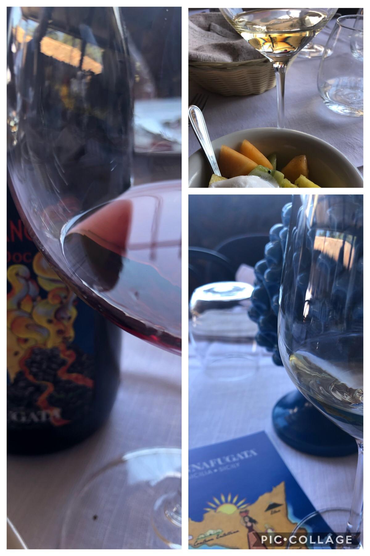 I colori trasparenti e vivaci dei vini dell'Etna di Donnafugata