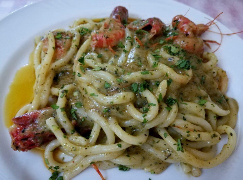 Cefalu' - pasta con zucchine e gamberi