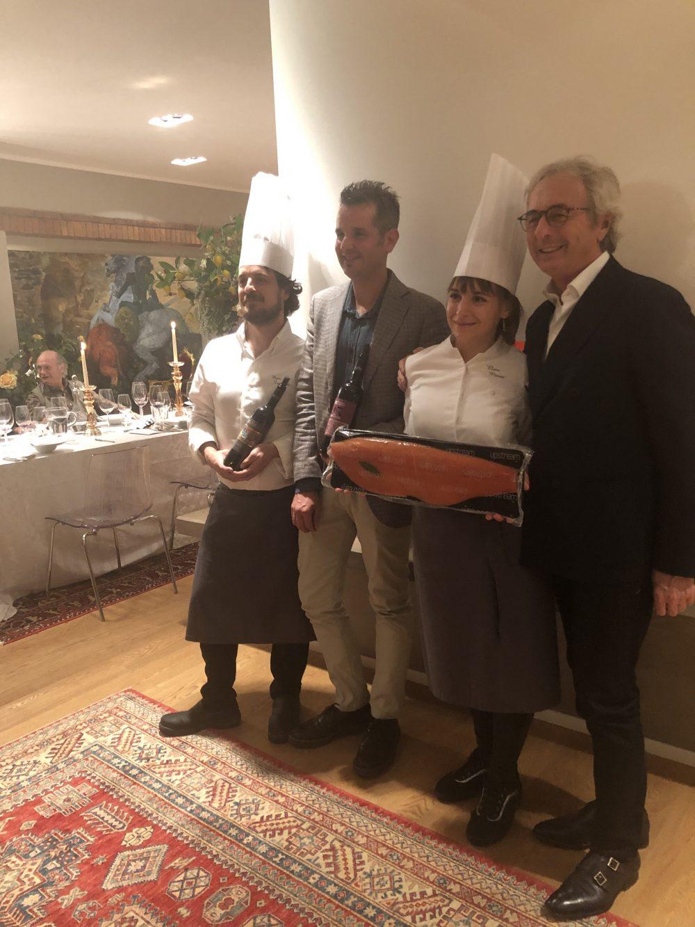 Chefs P.Zanobini e E. Minati, Claudio Cerati Upstream