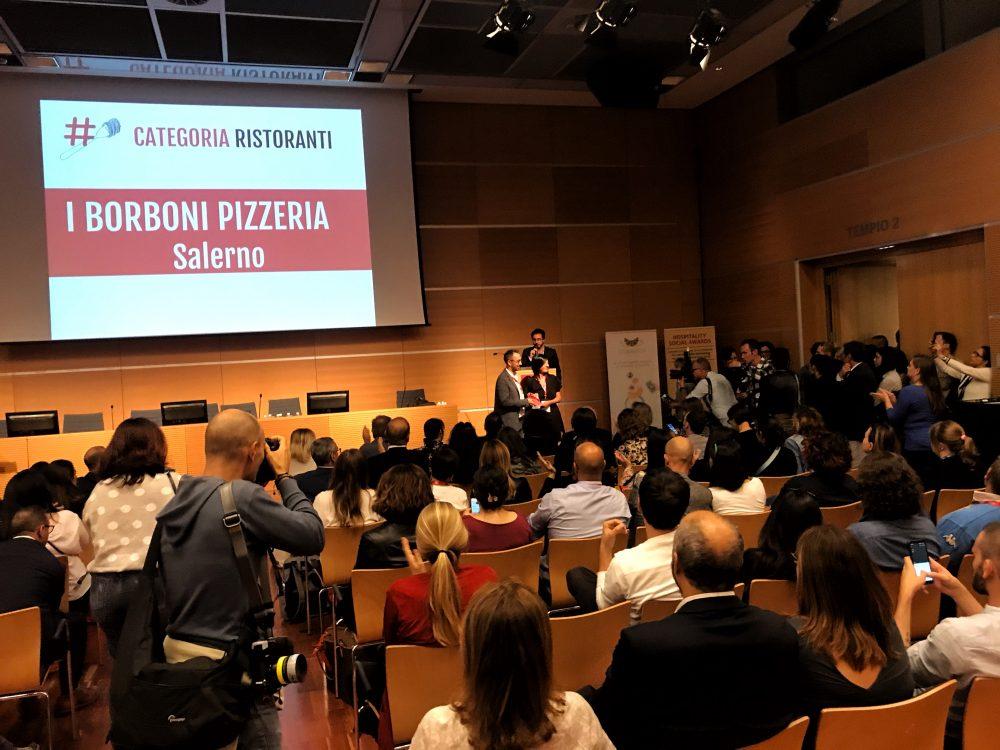 I Borboni pizzeria premiata agli Hospitality Social Awards