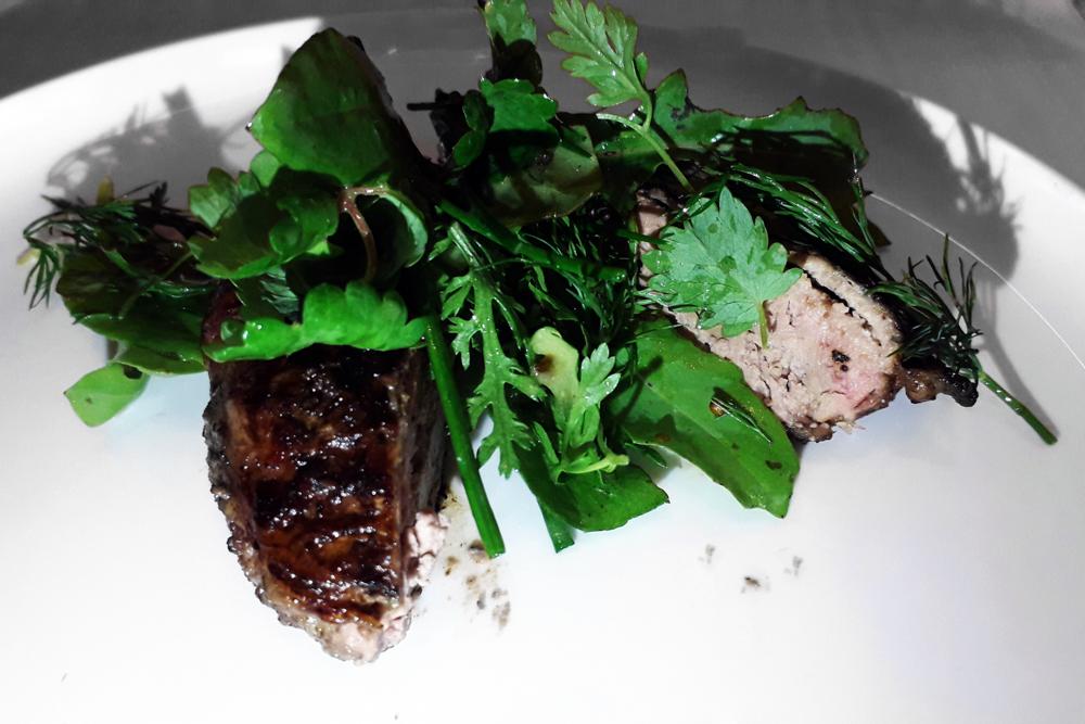 Il Merlo - Fegato di maialino insalata di erbe
