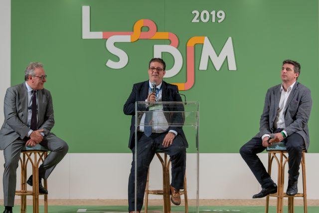Matteo Lorito, Andrea Sinigaglia con Luciano Pignataro a LSDM 2019