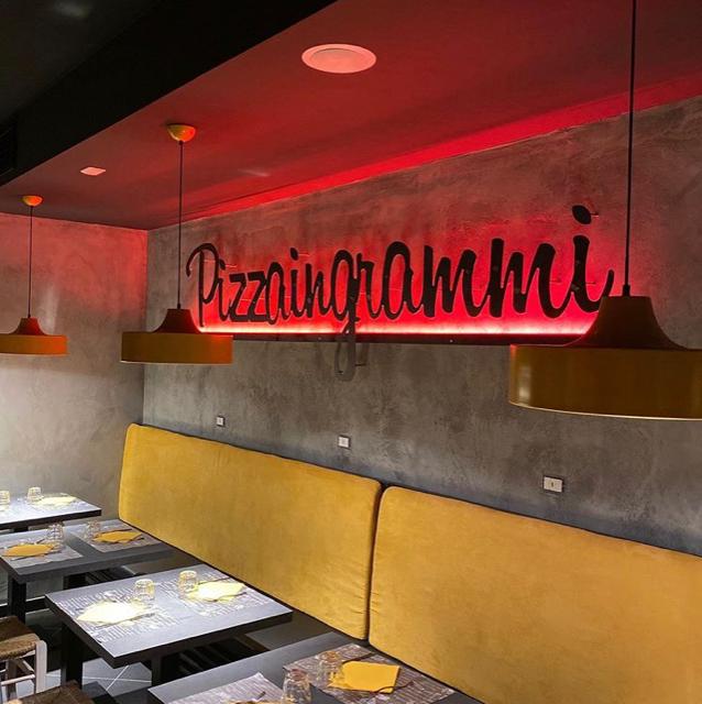 Pizzaingrammi Pozzuoli - particolare della sala